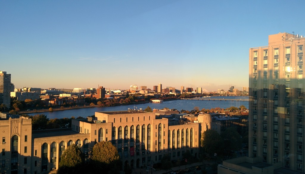 The commanding view from the Photonics Building.